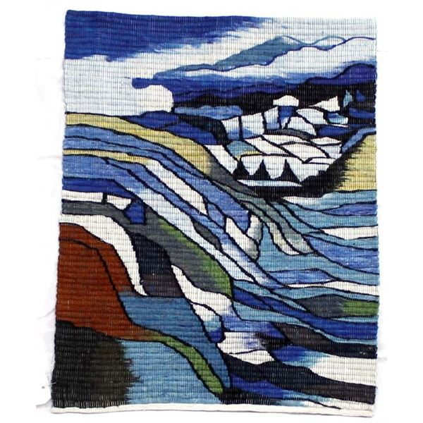 Peruvian Coiled Wool & Cotton Landscape Tapestry
