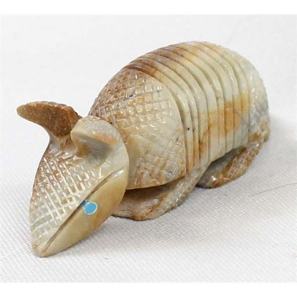 Zuni Picasso Marble Armadillo Fetish by H Sandy