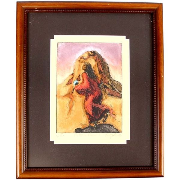 Medicine Woman 2 Lithograph Print by Larry Fodor