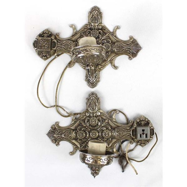Pair of Victorian Style Wall Mount Lights