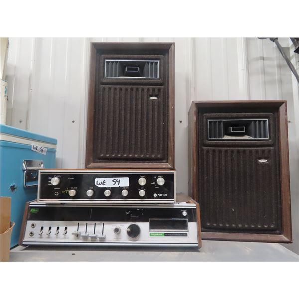 (WE) Nivico Stereo & Vagbond FM - 8 Track & Speakers