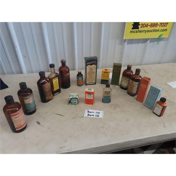 Vintage Medicine Bottles - Some w Packages