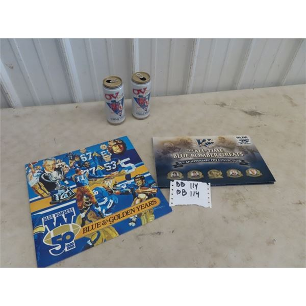 Blue Bombers Record, Blue Bomber 75th Ann Pin Collection, Plus More