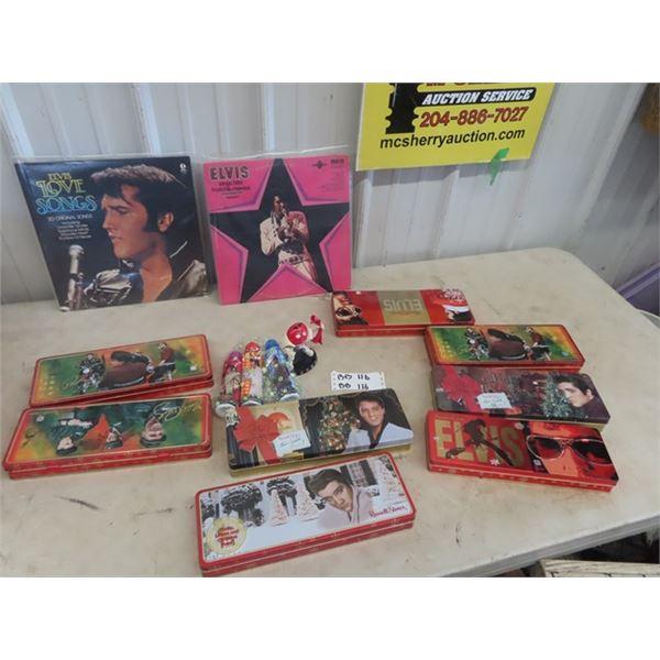 Elvis Records, Tins, Bingo Dabbers & M& M Elvis