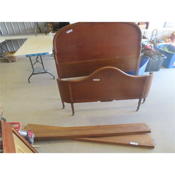 """Wooden Bed 56"""" W"""