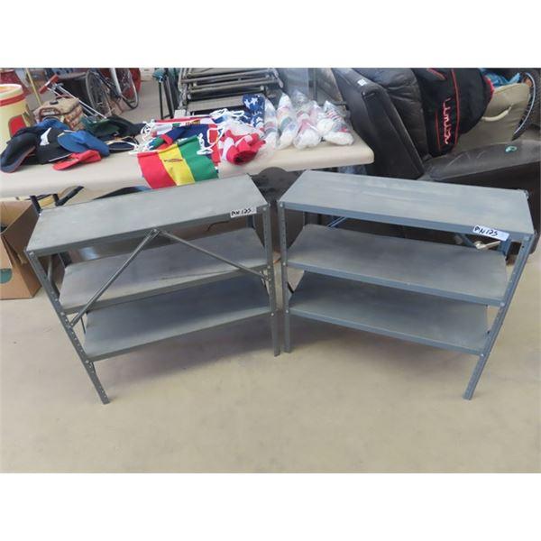 "(MN) 2 Metal Shelves 30"" x 30"" x 12"""
