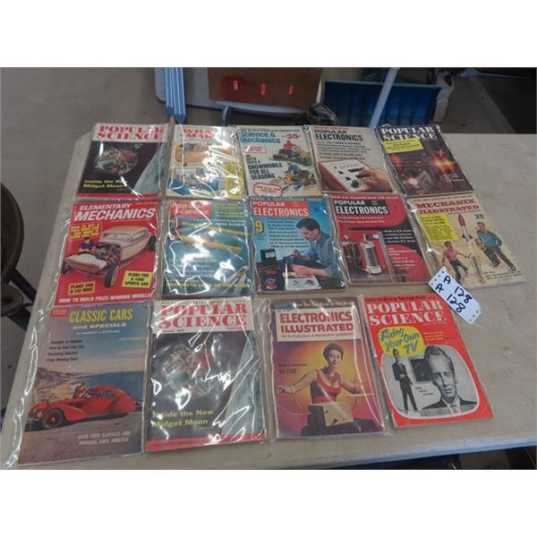 Approx 14 Popular Science Magazines 60's
