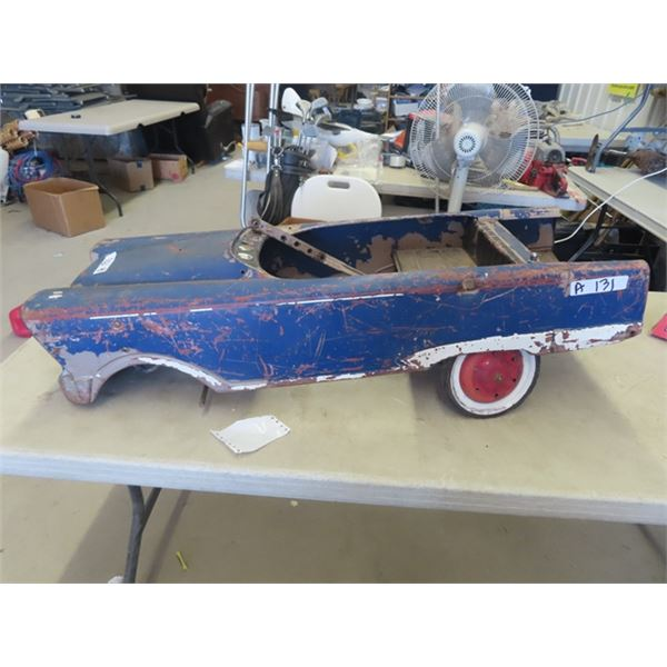 Vintage Metal Pedal Car Not Complete- Missing Wheels