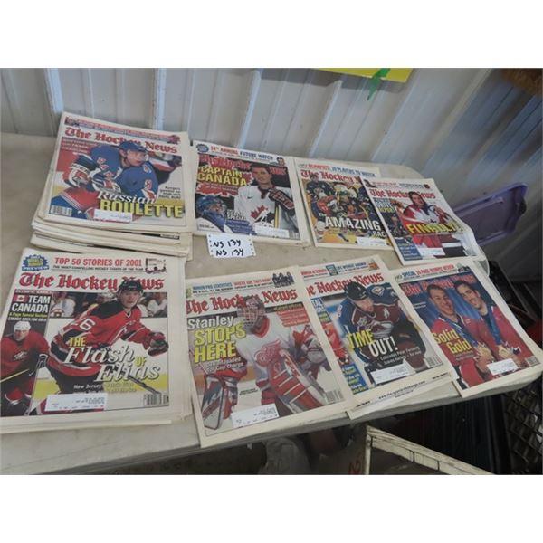Approx 25 Hockey Magazines