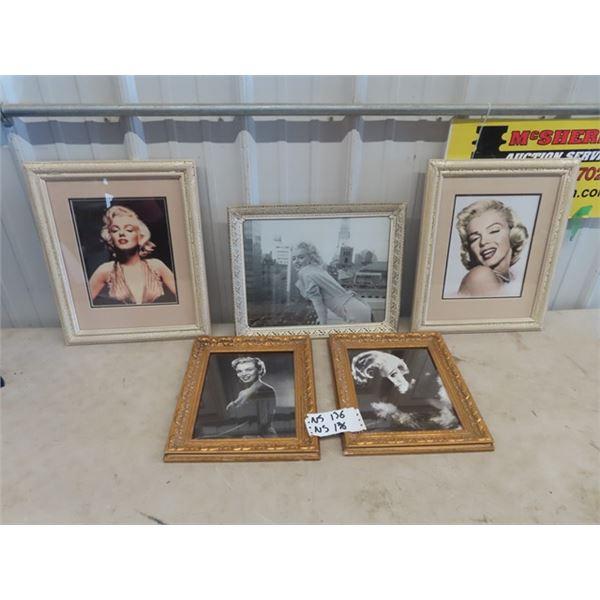 5 Framed Photos of Marilyn Munroe & Rita Hayward