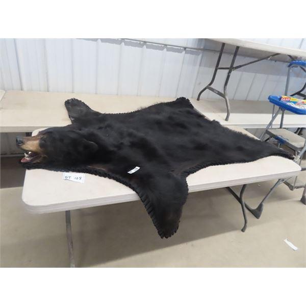 "(DT) Black Bear Hide 68"" x 67"