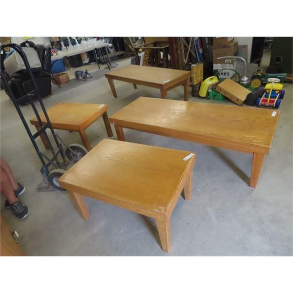 (EK) 2 Coffee Tables & 2 End Tables
