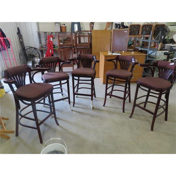 (EK) 5 Matching Highboy Chairs