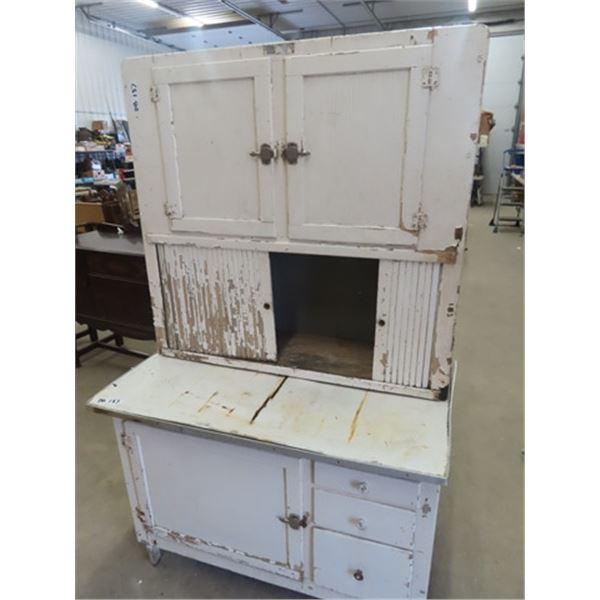 Painted Kitchen Cupboard (Hoosier)