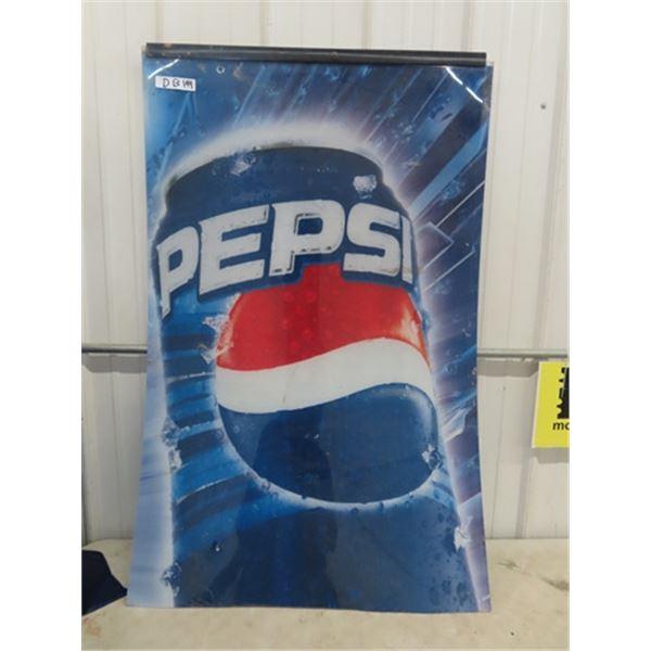 "Fibreglass Pepsi Sign 31"" x 48"""