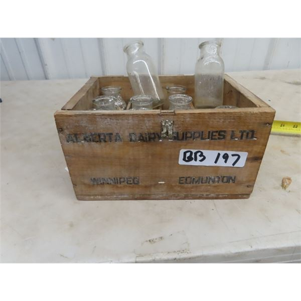 Alberta Diary Supplies Ltd.with 11 Sample Bottles & Crate