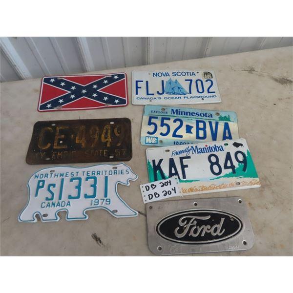 License Plates - 79 NWT , 57 NY Plus Ford Emblems