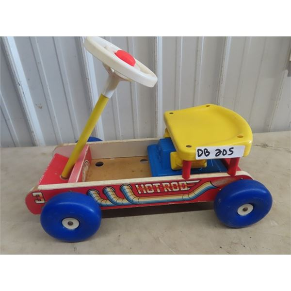 Fisher Price Ride On Hot Rod Car