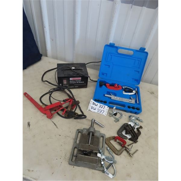 (DW) Battery Charger, Flaring Tool, Drill Press Vice , Clamps Plus More!