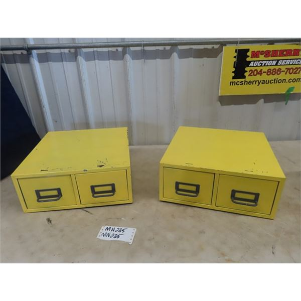"2 Metal Filing Cabinets 14.5"" x 15"""
