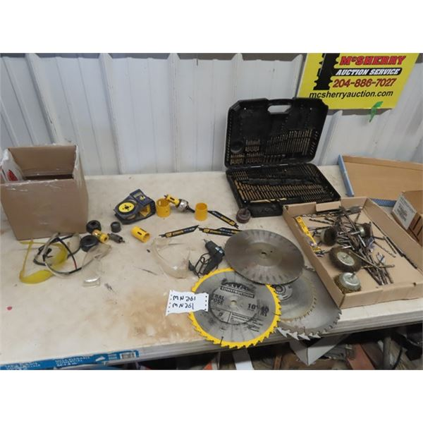 (MN) Hole Saws, Circ Saw Blades, Drill Bits, Safety Glasses