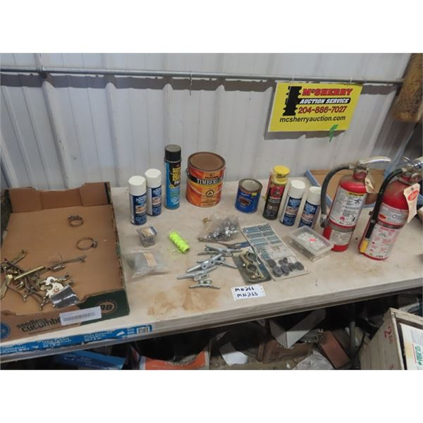 (MN) Spray Paint, Varnish, GAP Filler, Hardware, & Fire Extinguisher