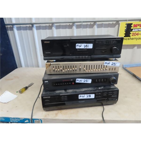 (MN) Stereo Equip - Kenwood Multi CD Player CD-403 NAD Monitor Series Stereo Tuner 4300 Marcantz Ste