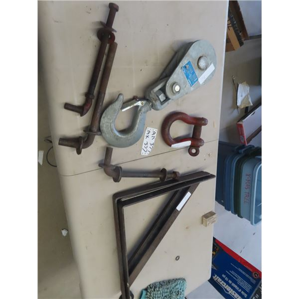 (MK) 8 Ton , Clevis, 3 Gate Hindges, Metal Shelf Brackets