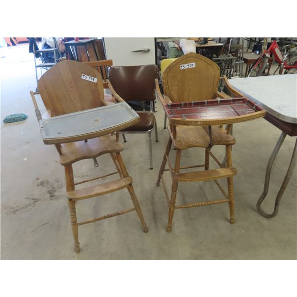 (TS) 2 Wooden High Chairs