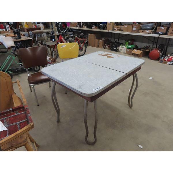 "(TS) Retro Kitchen Table & 2 Chairs 30"" x 42"" x 30"""