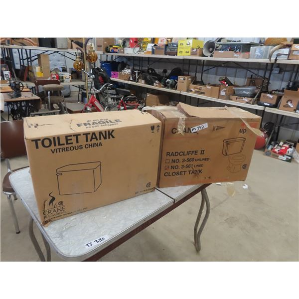 (M) 2 New Toilet Tanks