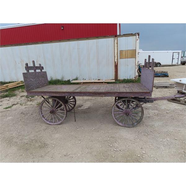 Railway Luggage Cart- Deck 9.5' - Solid