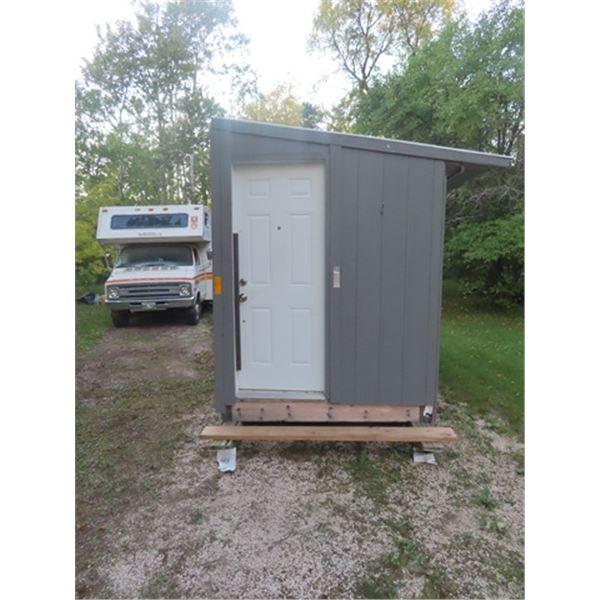 (MAT) 2020 Insulated Ice FIshing Shack 6' x 13' Tin Rood, Treated Skis, Window, Steel Door, 5 Catch