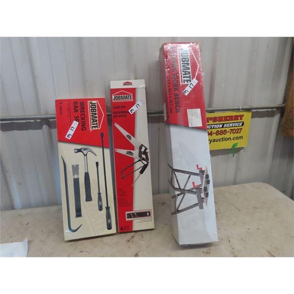 New Jobmate Wrecking Bar Set, Saw Kit, Folding Workmate Bench