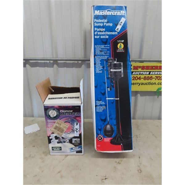 Mastercraft Sump Pump & Sunflower Heater