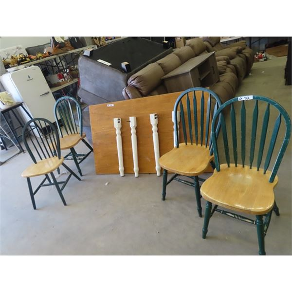 """Country Table & 4 Chairs 36""""x 60"""""""