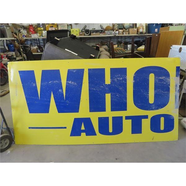 "WHO Auto Fibreglass Sign 48"" x 94"""