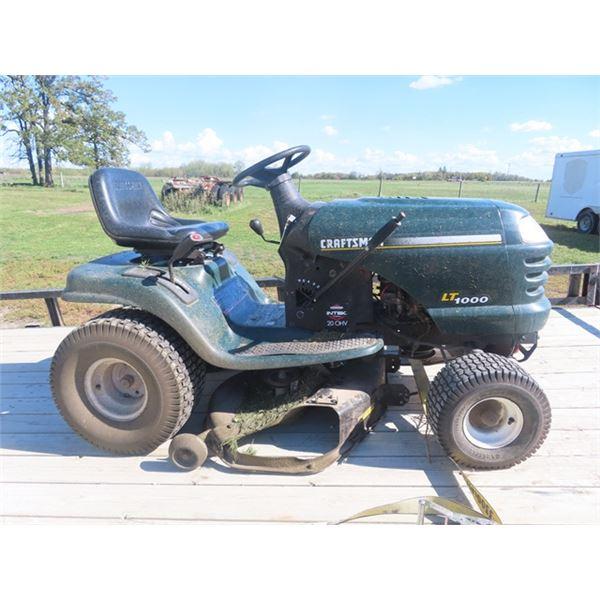 "(GEO) Craftsman LT 1000 20 HP 42"" Riding Lawn Mower - Runs"