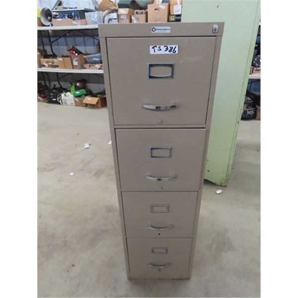 "(TS) 4 Drawer Metal Filing Cabinet 52"" x 15"" x 24"""