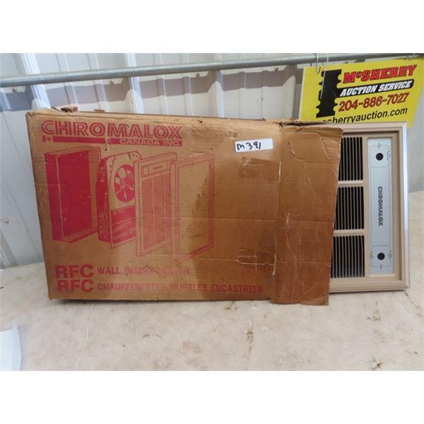 New Old Stock Chromalax Wall Insert Heater