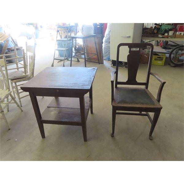 (TS) Parlor Table & DR Chair