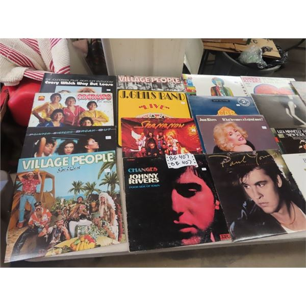 Approx 53 Records Various- Mainly Soft Rock