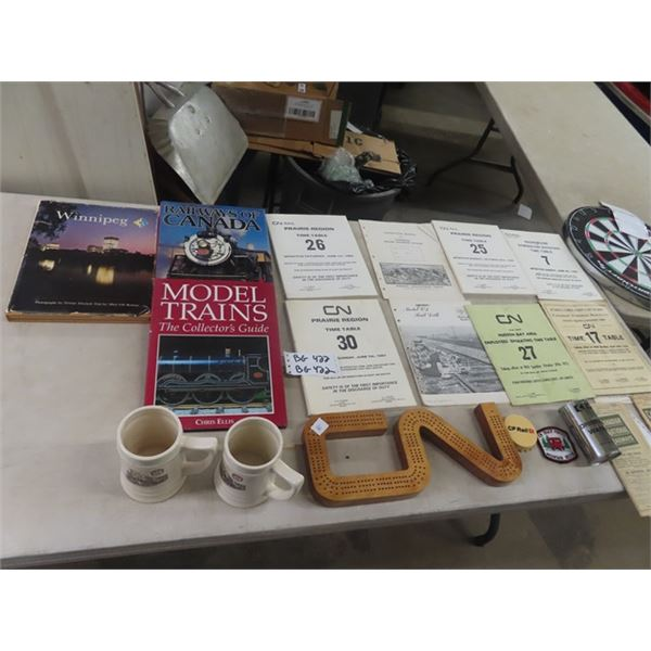 Train Related Books, Patches, Pamphlets Plus
