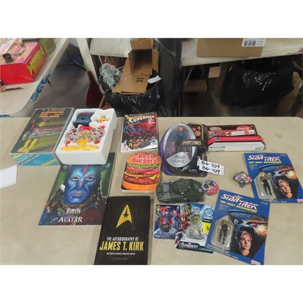 12 Combination With Funny Action, Star Trek Figurines Plus More!