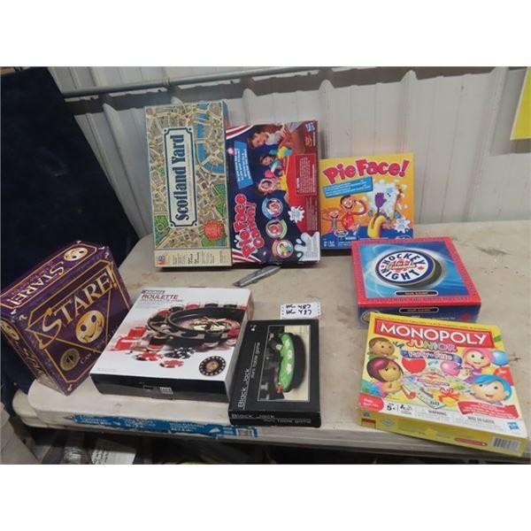 Board Games- Poker, & Various