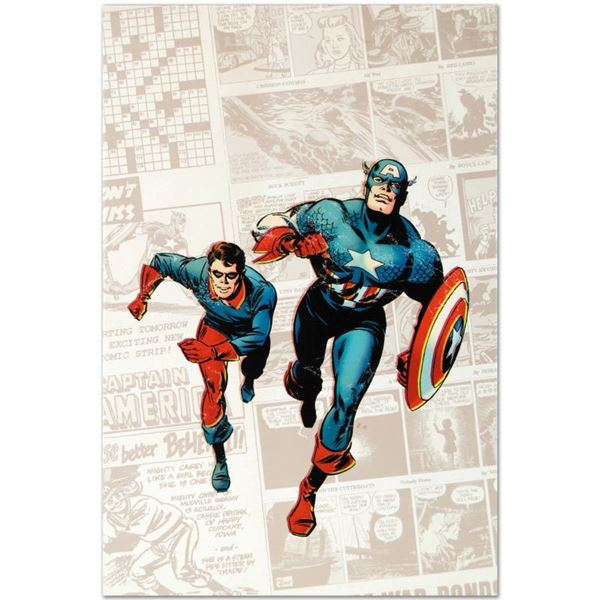 """""""Captain America: The 1940S Newspaper Strip"""" Limited Edition Giclee On Canvas"""