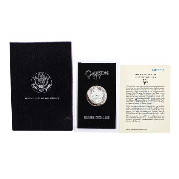1883-CC $1 Morgan Silver Dollar Coin GSA Hoard with Box & COA Nice Toning