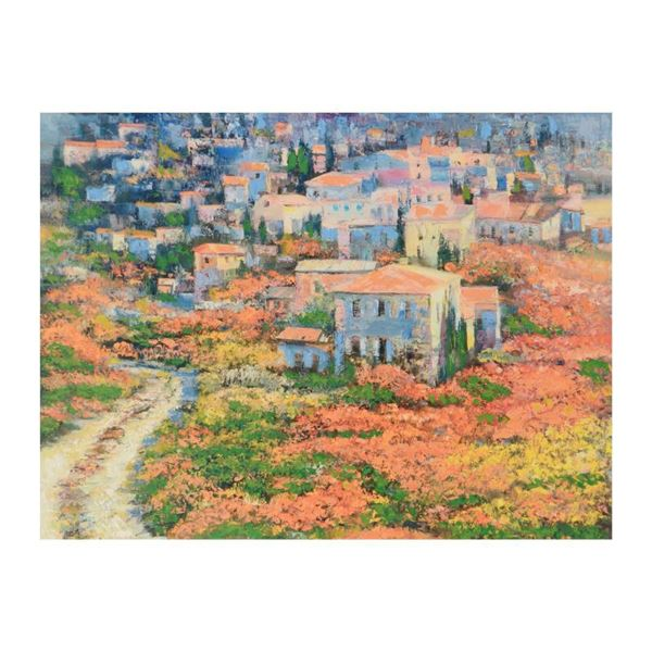 """Behrens (1933-2014) """"Tuscany"""" Limited Edition Giclee On Canvas"""