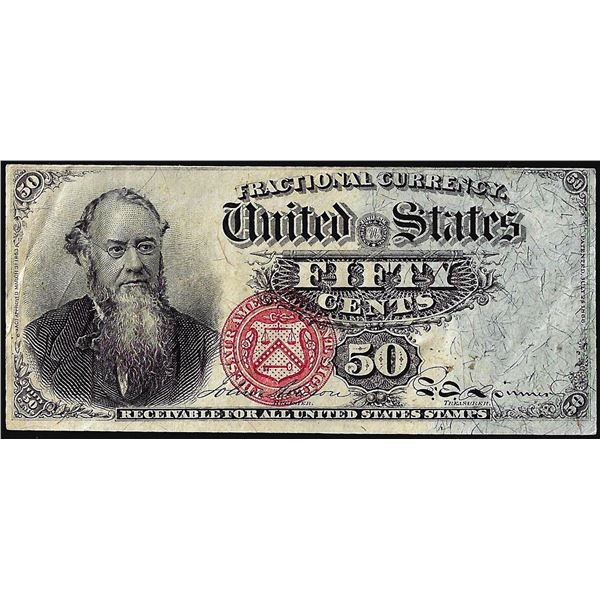March 3, 1863 Fourth Issue Fifty Cents Fractional Currency Note