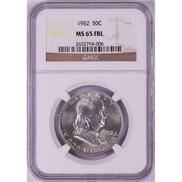1952 Franklin Half Dollar Coin NGC MS65FBL